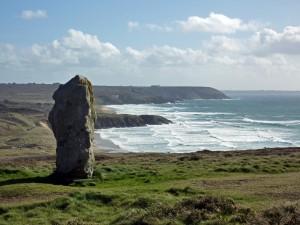 Il menhir di Lostmarch sulla penisola di Crozon