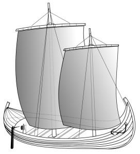 «Navire venete 2» par Barbetorte — Travail personnel. Sous licence CC BY-SA 3.0 via Wikimedia Commons
